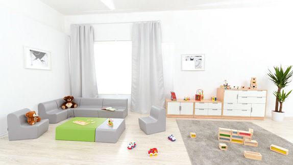 Aranżacja przestrzeni dla malucha wyposażona w meble z kolekcji Quadro