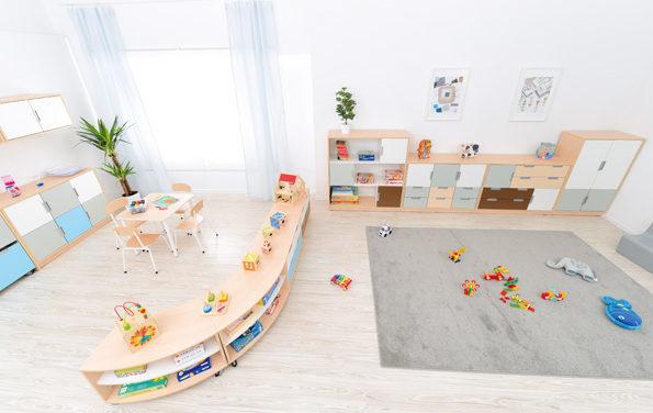 przestrzeń edukacyjna wyposażona w meble z kolekcji Quadro