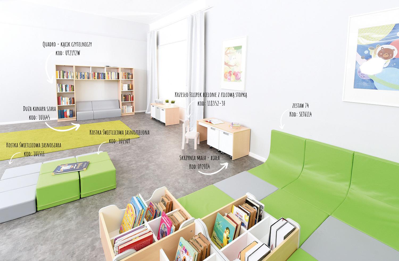 Inspiracje wyposażenia biblioteki i czytelni z kolekcją Quadro