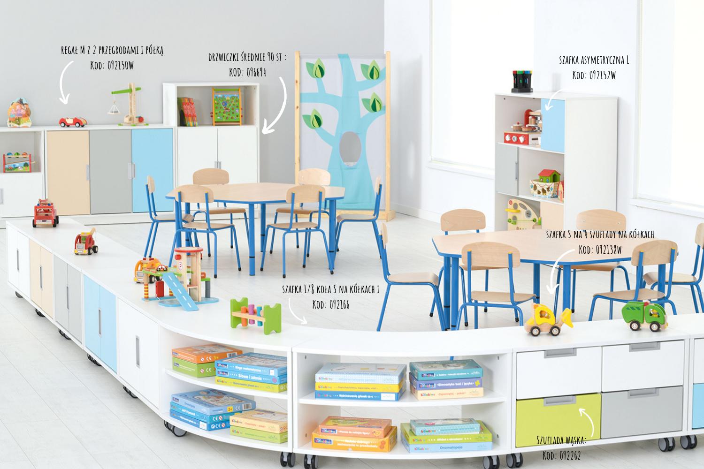 Inspiracje wyposażenia przedszkola z kolekcją Quadro