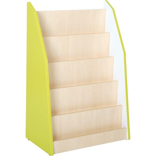 Biblioteczka stojąca z linii meblowej Quadro w kolorze limonkowym