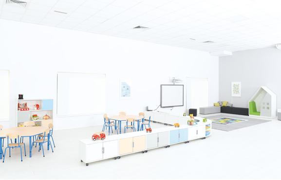 Wysokiej jakości meble do przedszkola z kolekcji Quadro