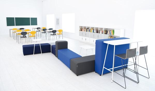 Koncepcja edukacyjna mebli z kolekcji Quadro, zdjęcie szkoły