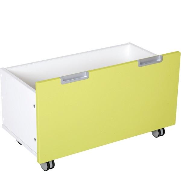 Skrzynia z kolekcji Quadro w kolorze limonkowym
