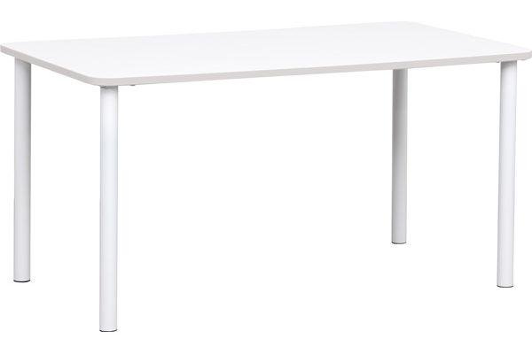 Prostokątny stół Quadro z brązowym obrzeżem