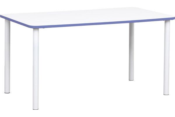 Prostokątny stol Quadro z fioletowym obrzeżem