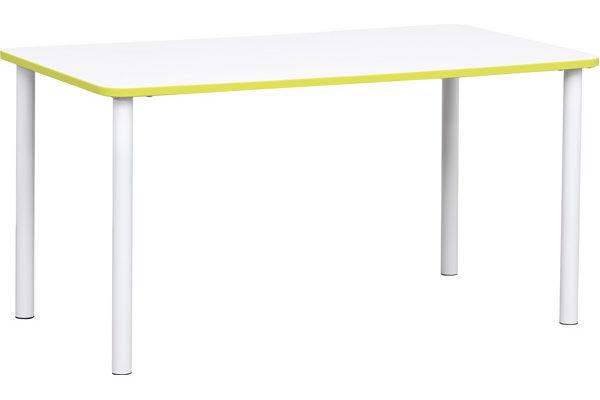 Prostokątny stół Quadro z zielonym obrzeżem