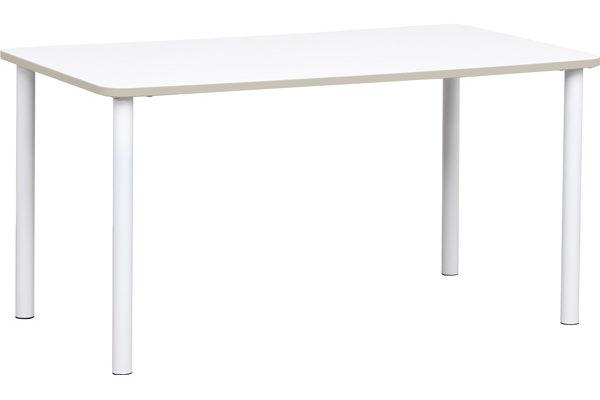 Prostokątny stół Quadro z szarym obrzeżem