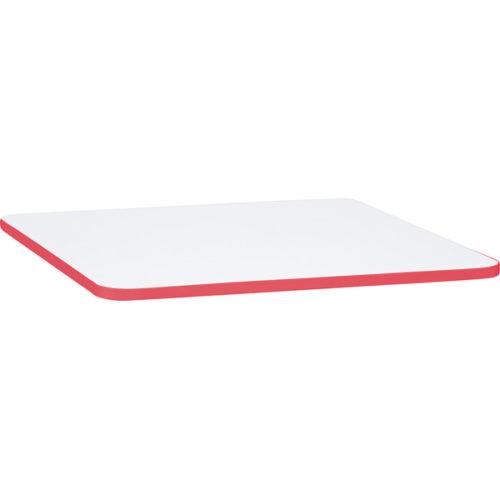Blat kwadratowy z czerwonym obrzeżem Quadro
