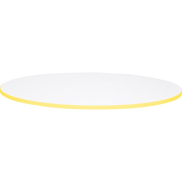 Blat Quadro o okrągłym kształcie z żółtym obrzeżem