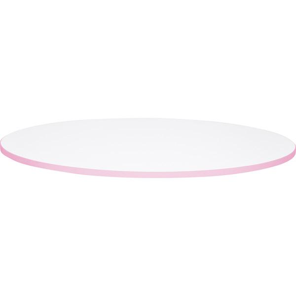 Blat Quadro w kolorze białym z różowym obrzeżem