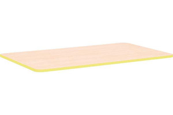 Prostokątny blat Quadro z żółtym obrzeżem