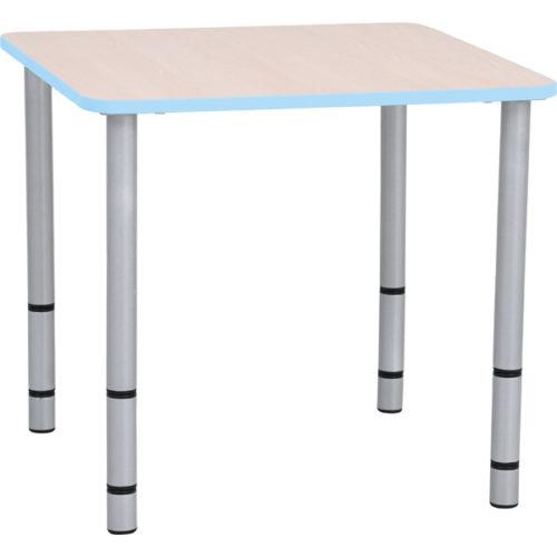 Stół z kolekcji Quadro kwadratowy o niebieskich bokach