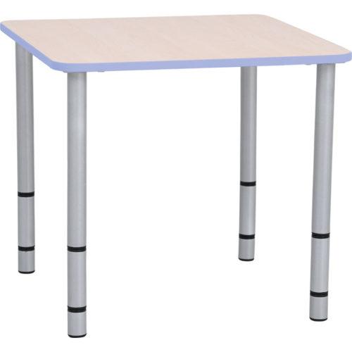 Kwadratowy stół Quadro z fioletowym obrzeżem