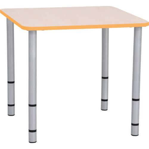 Kwadratowy stół quadro, boki pomarańczowe