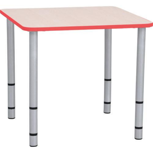 Stół Quadro z czerwonym obrzeżem
