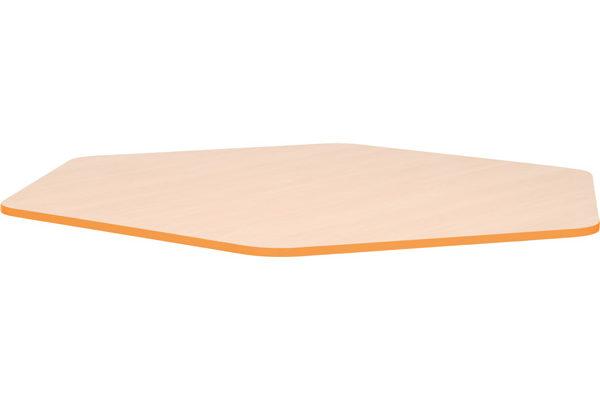 Blat Quadro o kształcie pięciokąta z pomarańczowym obrzeżem